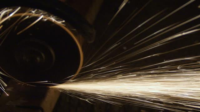 Grinder sparks slow motion