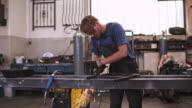 Grinding in a workshop