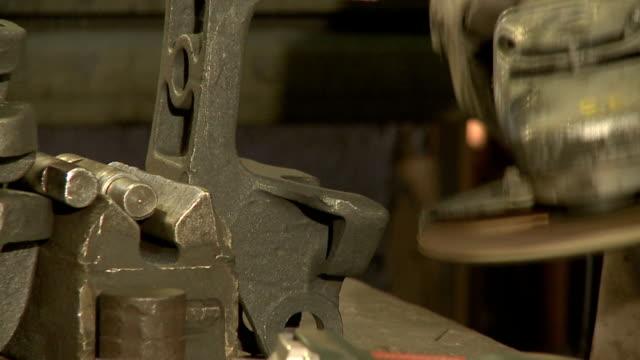 Schleifen Stahl Teil