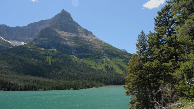 T/L, WS, Grinnell Point and Swiftcurrent Lake, Glacier National Park, Montana, USA
