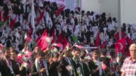 4000 grooms and brides gathered in the Yarmouk Stadium Gaza City for a mass wedding