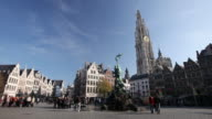 WS Grote Markt and Cathedral of our Lady / Antwerp, Flanders, Belgium
