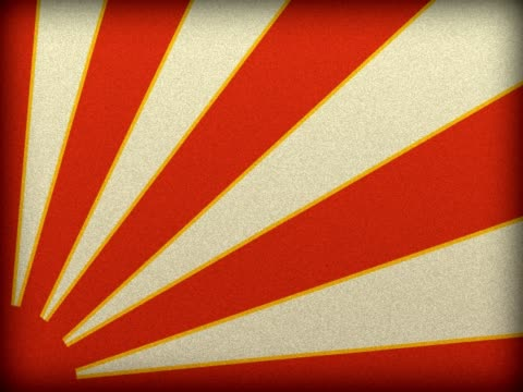 NTSC Grounge background with japanese war flag