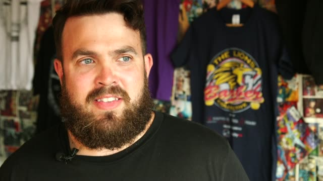 Group of barbers work with mental health charities to help men suffering from depression Tom drying Paul's hair Paul Richardson SOT I went to him one...