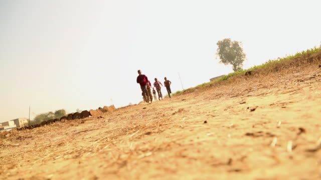 Group of children running, Ballabhgarh, Haryana, India