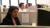 MS, Group of customer service representatives at work