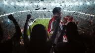 Groep van fans juichen voor aangesloten bij sportvereniging