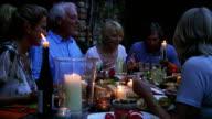 Group of Friends Al Fresco Dining