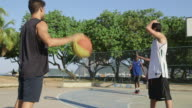 WS A group of men play basketball together / Rio de Janeiro, Brazil