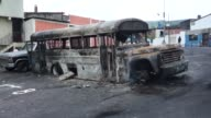 A group of neighbours from the residential area Romulo Colmenares denounced an attack by government paid crooks who set a public bus alight in the...