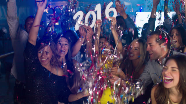 Group of people celebrating New Years