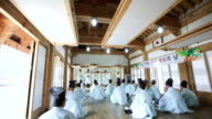 MS PAN Group of People experience dyed fabric at Korean House / Andong, Gyeongsangbuk do, South Korea