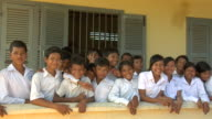 MS Group of primary and secondary school students in rural Siem Reap / Cambodia