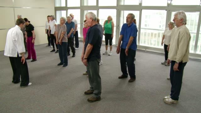 HD: Group Of Seniors Exercising