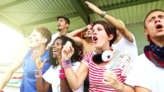 Gruppe von Usa-Fans