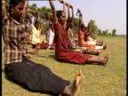 A group of women being trained as Tamil Tigers