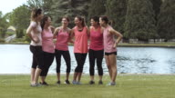Group of women gathering before a run