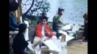 1964 Group Picnicking at Summer Camp