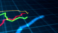 Growing Charts Moving Seamless Loop Animation 02