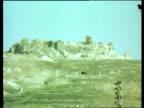 Growing conflict between Palestinians and Israelis LEBANON GV Beaufort Castle PULL BACK EKTA 16mm ITN 10secs 6ft TAPE