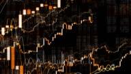 Growing Financial Charts Loop. Panorama.