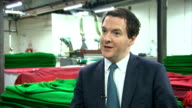 George Osborne interview Osborne interview SOT Britain on path to prosperity / GDP numbers show there is recovery in all parts of private sector /...