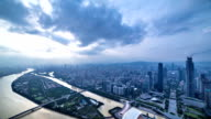 Guangzhou city storm and rain sunset timelapse