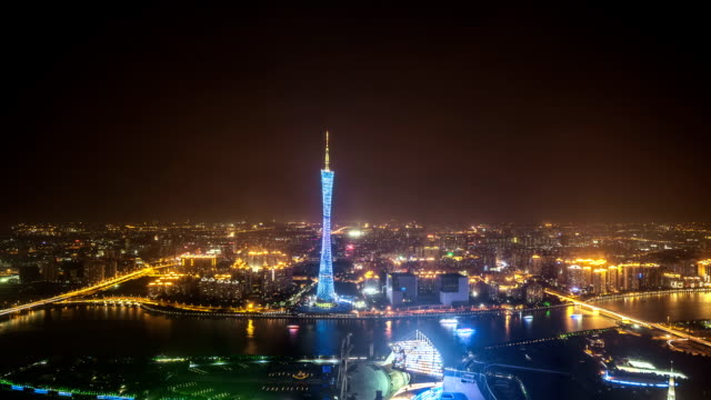 T/L WS TD Guangzhou Overlook at Night / Guangzhou, China