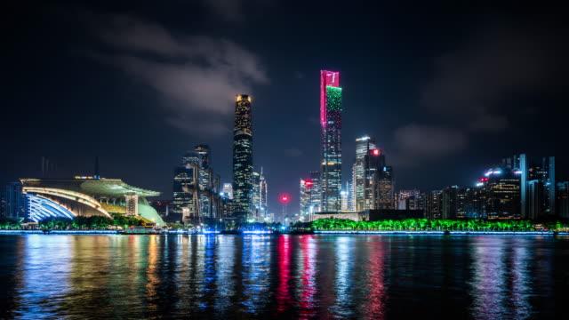 T/L WS Guangzhou Skyline at Night / Guangzhou, China