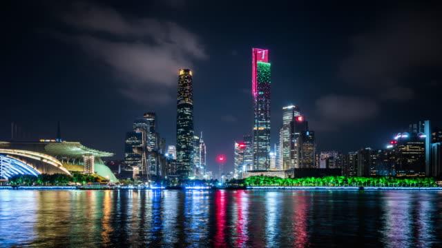 T/L WS ZI Guangzhou Skyline at Night / Guangzhou, China