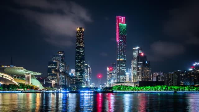 T/L WS ZO Guangzhou Skyline at Night / Guangzhou, China