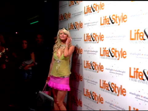 Guest in Paris Hilton costume at the Life and Style Weekly Celebratation of Its OneYear Anniversary with a Celebrity Masquerade at Marquee in New...