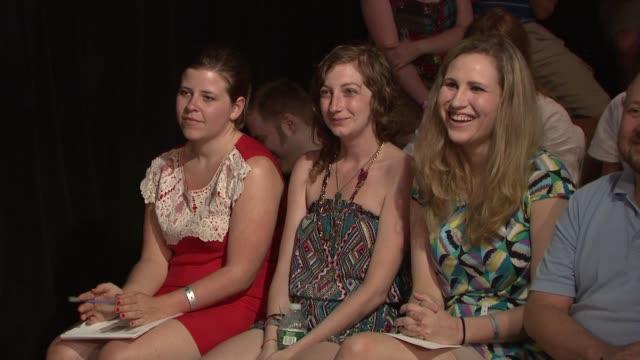 Guests at 14th Annual Del Close Improv Comedy Marathon Press Conference at Upright Citizens Brigade Theatre on June 29 2012 in New York New York