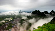 Guilin Hills in Mist at Sunrise