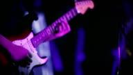 Gitarist een gitaar spelen