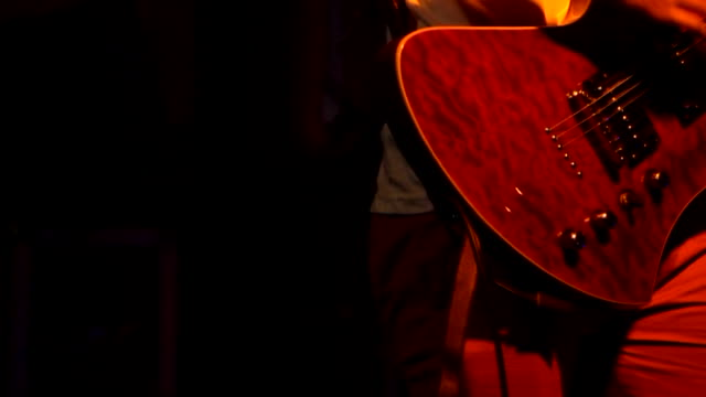 Guitarist. Slow Motion. Loopable.