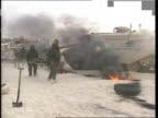 Gulf Crisis Large casualties warning if war breaks out SAUDI ARABIA LMS Chemical warfare drill as broken down tank emitting thick black smoke as...