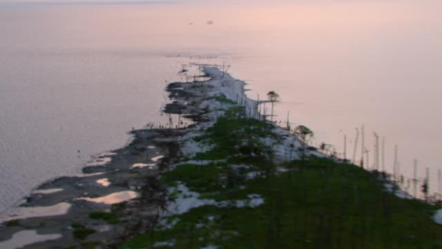 A Gulf Islands National Seashore peninsula juts into the Gulf of Mexico.