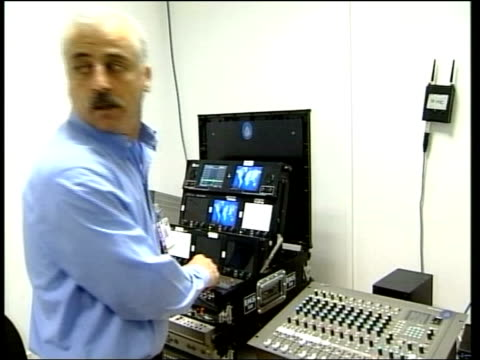 Day 8 Lunchtime News ITN FOR ITV Al Jazeera staff working in gallery i/c