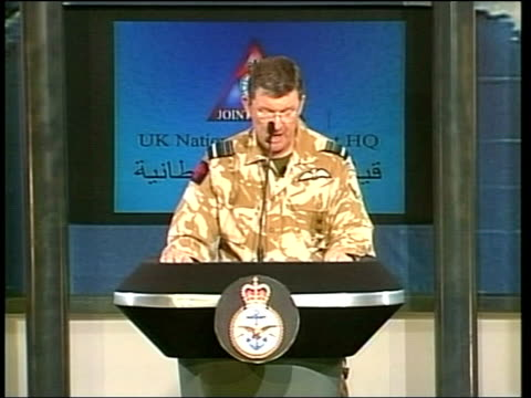 Day 8 Lunchtime News Air Marshal Brian Burridge along into press conference SOT Air Marshal Brian Burridge press conference SOT They claim that these...