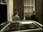 Day 8/ Other stories 1230 1320 JOHN ENGLAND London Westminster Downing St No 10 No 10 War Cabinet arrivals Sir Patrick Mayhew arrives Douglas Hurd MP...