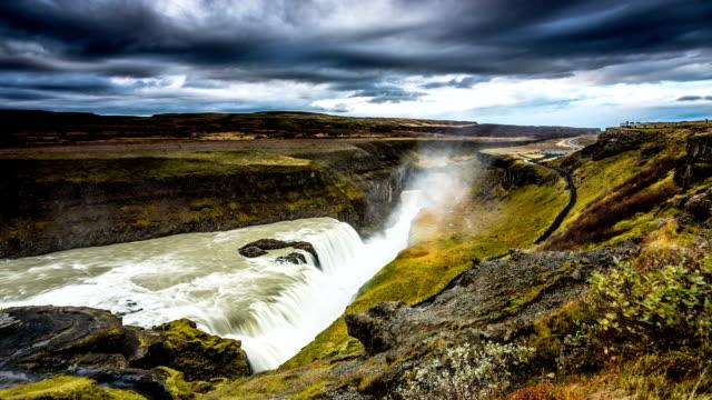 TIME LAPSE: Gullfoss Waterfall , Iceland