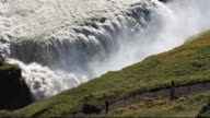 Gullfoss waterfall, one of the most spectacular and most visited tourist attractions in iceland.