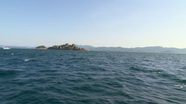 Gunkanjima one of the UNESCO World Heritage sitesLandscape of Hashima Whole view from the sea For 5994 fps files please contact...
