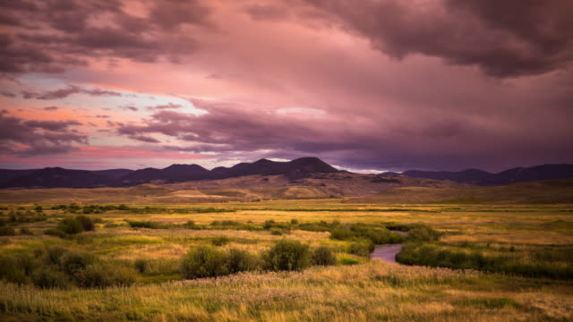 Gunnison River Sunset - Time Lapse