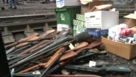 WJW Guns Part of BuyBack Program In Piles to Be Melted The City of Cleveland melted down and recycled firearms into steel as part of the city's...