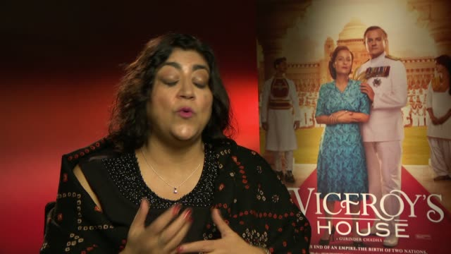 Gurinder Chadha on displacement and the cast on February 22 2017 in London England