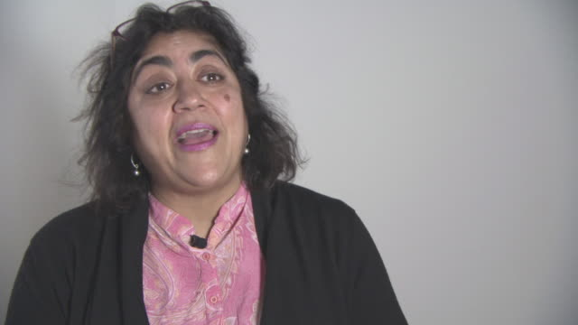 INTERVIEW Gurinder Chadha on editing her next film 'Viceroy's House' at British Asian Trust Awards ambassador interviews at Claridges Hotel on...