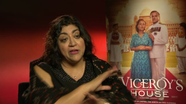 Gurinder Chadha on making the movie keeping it true and family memories on February 22 2017 in London England