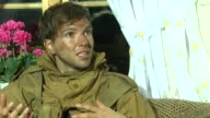 Guy Burnet on how much he's learned to be a commando because of the terrain at the Age of Heroes Set Visit at Haugesund
